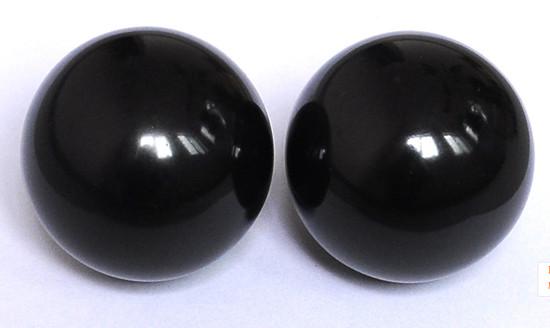 55mm black marble massage balls